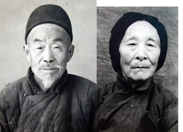 我爷爷奶奶的照片 我的爷爷,即李勤奉的父亲,名字叫李连堂。他生于一八九四年,故于一九七二年,享年七十八岁。爷爷兄弟仨:大老爷李连忠,二老爷李连彤.奶奶李刘氏,生于一八九五年,故于一九七七年,享年八十二岁。祖母李任氏.祖父连名字都没有留下。听父亲说,祖母告诉他,在他出世以前祖父就去世了,是有次外出喝酒,醉死于回家途中的.还说那时咱家家境贫寒,祖母拉扯着爷爷兄弟仨度日如年,吃上顿无下顿,遇年关,逢灾荒还得上山下地挖野菜剥树皮以资充饥。待兄弟仨渐渐长大,祖母才与东河村一家沾点远亲的地主租了八十多亩地耕种.由于